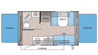 2016 Jay Feather Ultra Lite X17Z Floor Plan