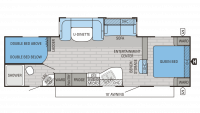 2016 Jay Flight 28BHBE Floor Plan