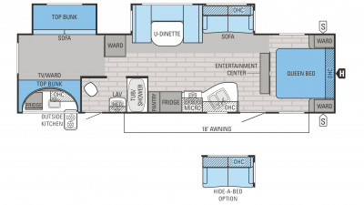 Jayco Jay Flight 2016 32BHDS Floorplan cropped