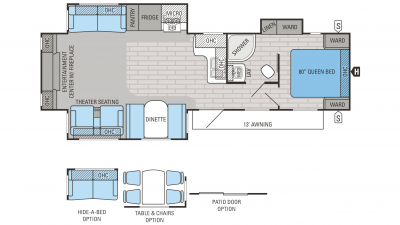 Jayco Jay Flight 2016 33RLDS Floorplan cropped
