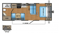 2017 Jay Flight 23RB Floor Plan