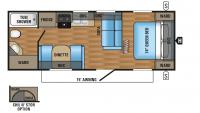 2017 Jay Flight 23RB Floor Plan