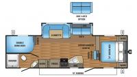 2017 Jay Flight 28BHBE Floor Plan