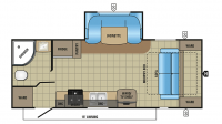 2017 Jay Feather 23RBM Floor Plan