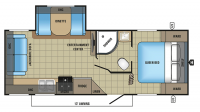 2017 Jay Feather 23RLSW Floor Plan