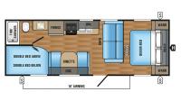 2017 Jay Flight SLX 264BHW Floor Plan