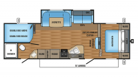 2017 Jay Flight SLX 287BHSW Floor Plan