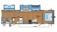 2017 Jay Flight SLX 32BDSW Floor Plan