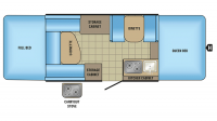 2017 Jay Sport 12UD Floor Plan