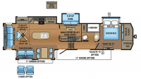 2017 North Point 377RLBH Floor Plan