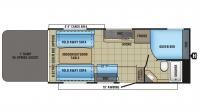 2017 Octane ZX Super Lite 222 Floor Plan