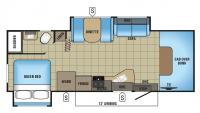 2017 Redhawk 26XD Floor Plan