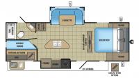 2017 White Hawk 25BHS Floor Plan