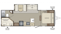 2016 Bullet 274BHS Floor Plan