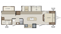 2017 Bullet 311BHS Floor Plan