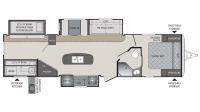 2017 Premier 34BHPR Floor Plan