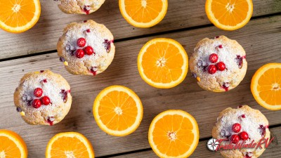Berry Muffins In An Orange Peel