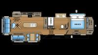2017 North Point 381DLQS Floor Plan