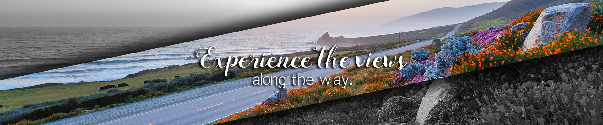 Experience the views along the way Highway 1.