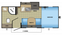 2017 Hummingbird 17RB Floor Plan