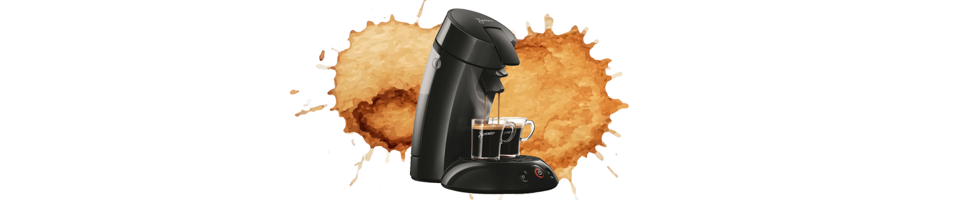 single serve coffee maker big coffee splatter
