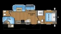 2017 Jay Flight 29BHDB Floor Plan