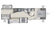 2017 Premier 31BKPR Floor Plan
