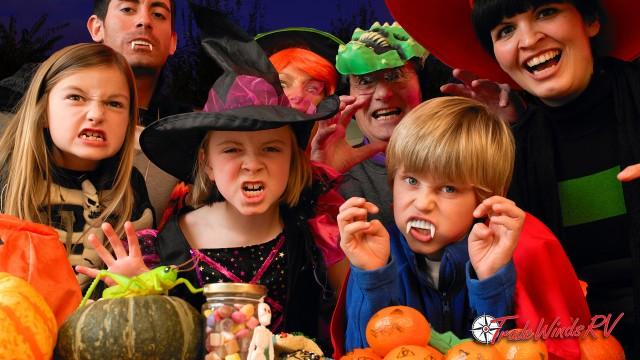 Campsite Halloween Party