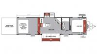 2017 XLR Nitro 31FQSL Floor Plan