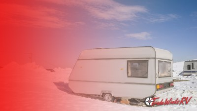 Travel Trailer RV In The Winter