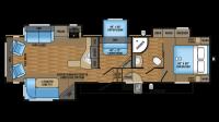 2017 Eagle HT 30.5MBOK Floor Plan