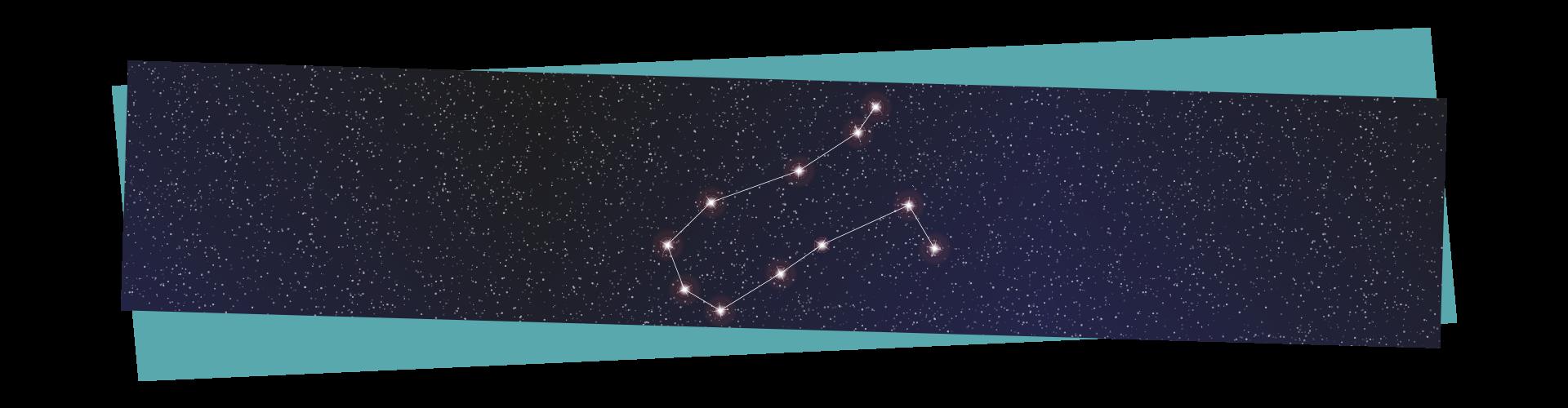 Winter stargazing - Gemini constellation