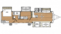 2019 Sierra Destination 385FKBH Floor Plan