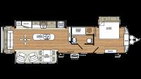 2019 Sierra Destination 393RL Floor Plan