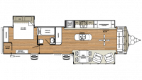 2018 Sierra Destination 401FLX Floor Plan