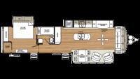 2019 Sierra Destination 401FLX Floor Plan