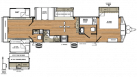 2019 Sierra Destination 402QB Floor Plan