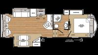 2019 Sierra HT 2850RL Floor Plan