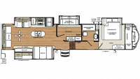 2019 Sierra 372LOK Floor Plan
