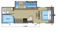 2017 Jay Feather 25BH Floor Plan