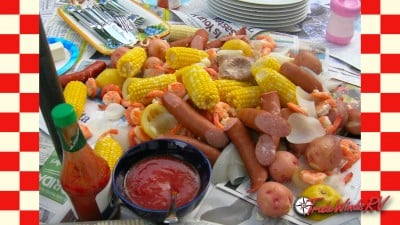 Enjoy a shrimp boil on your next RV trip