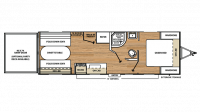 2018 Catalina Trail Blazer 22TH Floor Plan