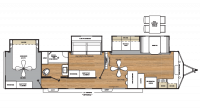2018 Catalina Destination 39FKTS Floor Plan