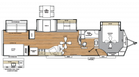 2018 Catalina Destination 40BHTS Floor Plan