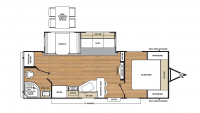 2018 Catalina Legacy Edition 243RBS Floor Plan