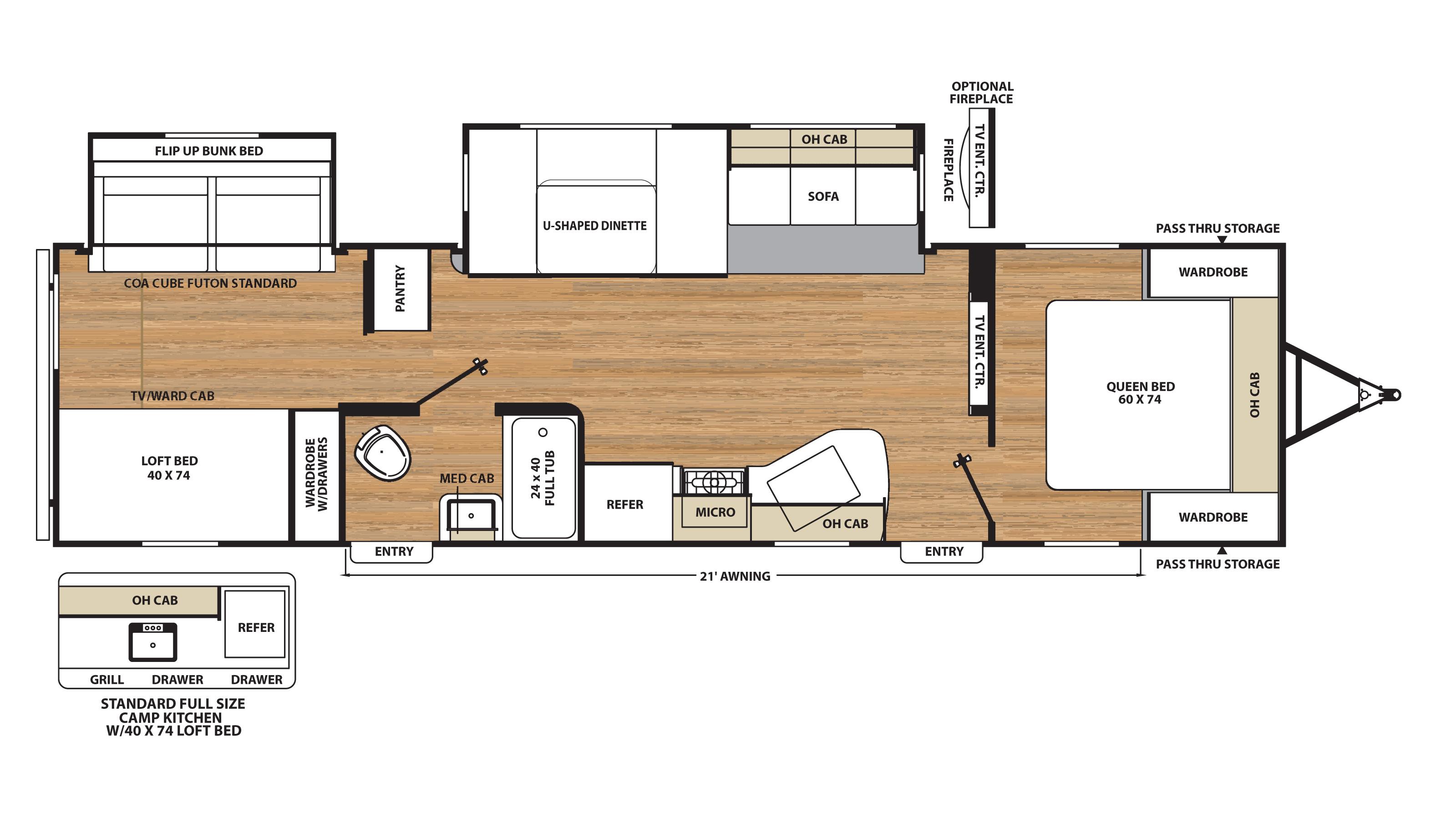 Coachman Travel Trailer Floor Plans New 2018 Catalina Legacy Edition 323bhds Coachman
