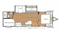 2018 Catalina SBX 261BHS Floor Plan