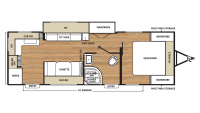 2018 Catalina SBX 261RKS Floor Plan