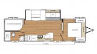 2018 Catalina SBX 281DDS Floor Plan