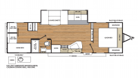 2018 Catalina SBX 291QBCK Floor Plan